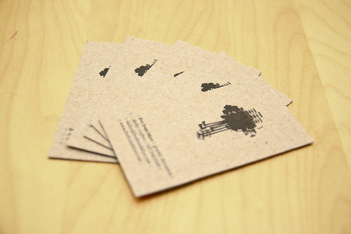 fanned live from bklyn business cards (front) | by cdaileycrafton