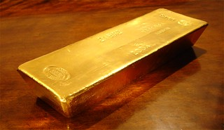 Whole Gold Bar on Wood | by BullionVault