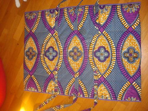 sac langer pour cosima tissu wax toto et violet. Black Bedroom Furniture Sets. Home Design Ideas
