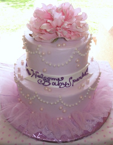 pretty pink and purple baby shower cake visit