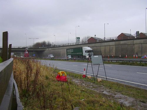 a56 haslingden bypass the yellow and red car has broken do flickr. Black Bedroom Furniture Sets. Home Design Ideas