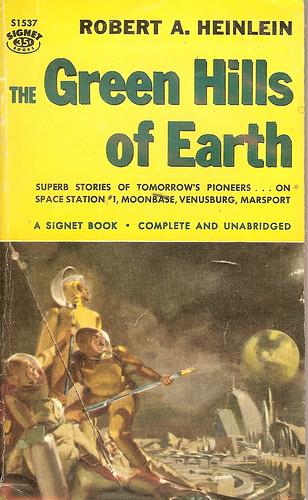 Green Hills of Earth - Robert Anson Heinlein - cover artist Stanley Meltzoff