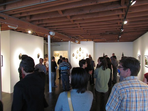 Opening night of Scott Radke's 'Burlap' and Jen Lobo's 'Inherit The Wound' at Thinkspace | by thinkspace_gallery