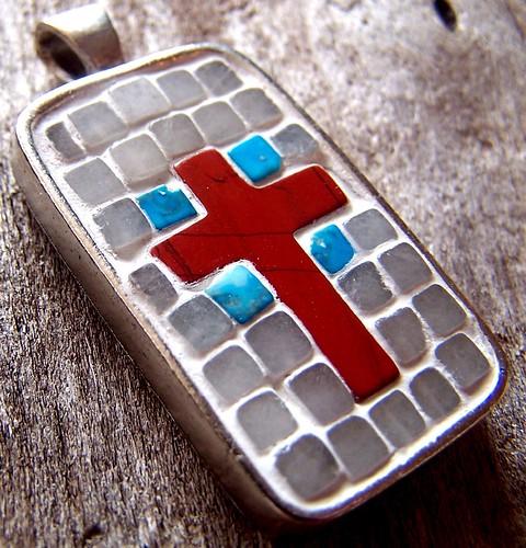 Mosaic Cross Art Pendant Flickr Photo Sharing