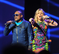 The Black Eyed Peas Singing at Walmart Shareholders Meeting 2011