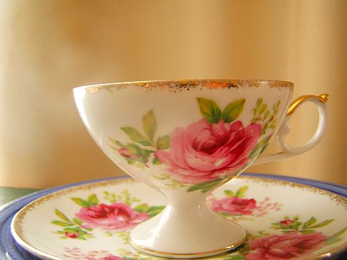tea cup and saucer roses | by irisheaven