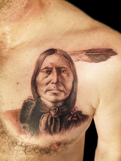 American Red indian portrait tattoo | by Miguel Angel tattoo