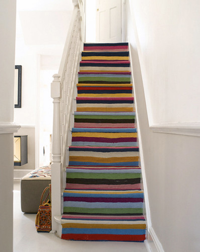 multi-color stair runner | by Anna @ D16