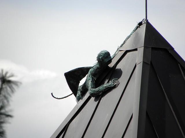 Winged monkey sculpture in Burlington VT