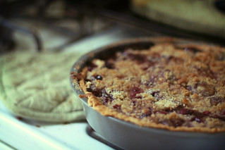cherry pie with crumble topping | by ginnerobot