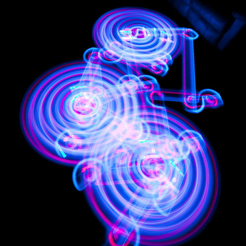 Roomba Light Trails - First Run | by 3rdeyepro