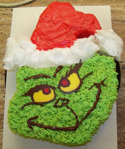 Cake Art South Penrith : Grinch cake Banana Cake with creamcheese buttercream ...