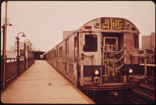Trains Like This One Have Been Spray-Painted by Vandals. 05/1973 | by The U.S. National Archives