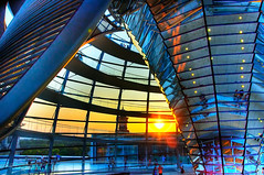 Berlin - Sunset inside the Reichstag Dome | by Emilio Dellepiane