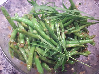 Decorative Tarragon Sprigs with green beans | by mia3mom