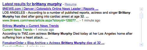 brittany murphy - real time reactions | by search-engine-land