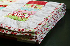 Moda Oh Cherry Oh Stacked Coin Quilt Folded | by Fresh Lemons : Faith