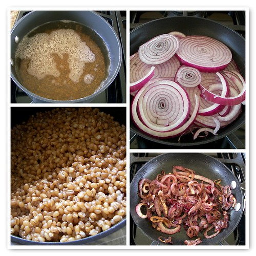 Cooking Wheat Berries and Caramelizing Onions | by Phoo-D