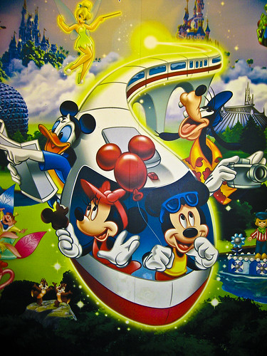 Disney characters mural flickr photo sharing for Character mural
