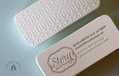 Letterpress business cards, Story Boutique | by Dingbat Press