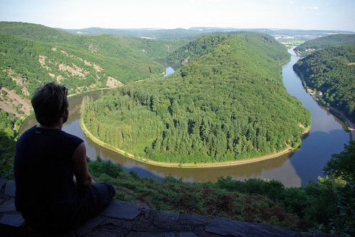 Looking out over the river Saar | by The Hungry Cyclist