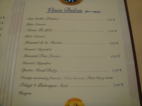 Restaurante puerta 57 madrid vinos de postre pablo for Puerta 57 restaurante