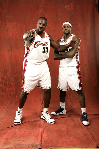 Shaq/LeBron 2009/10 Media Day | by Cavs History