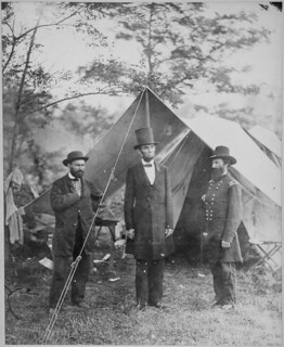 President Lincoln, Allan Pinkerton, and Maj. Gen. John A. McCleland. | by The U.S. National Archives