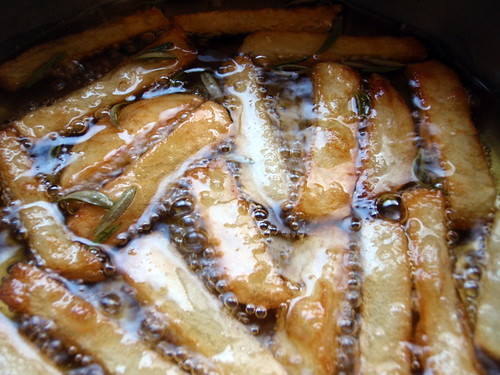 Making Duck Fat French Fries with Rosemary, Maldon Salt, and Truffle Oil | by joyosity