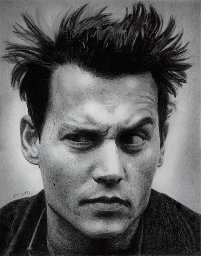 Johnny Depp pencil portrait | by Uriolus