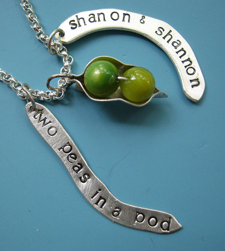 Custom Two Peas In A Pod Necklace Rachael Sudlow Flickr