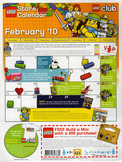 LEGO Store Calendar February '10 - Front | by TooMuchDew