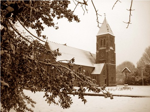 Church in the snow | by PhotoPuddle