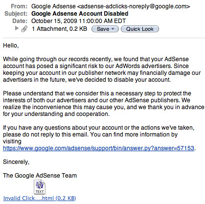 Google AdSense Phishing Scam | by rustybrick