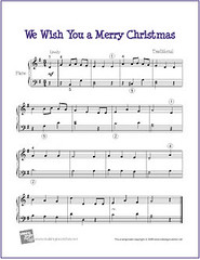 We Wish You A Merry Christmas   Free Sheet Music for Easy …   Flickr