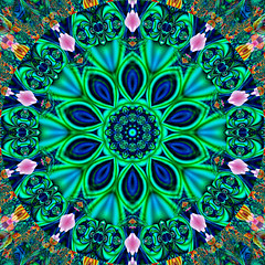Blue Sari Kaleidoscope | by Ate My Crayons