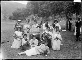Temperance Ladies' Brass Band, possibly in Auckland, ca 1910s | by National Library NZ on The Commons