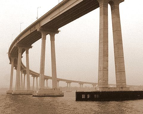394. Coronado Bridge in the fog