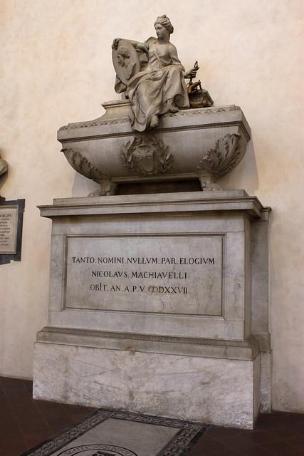 Niccolò Machiavelli tomb, Santa Croce, Florence