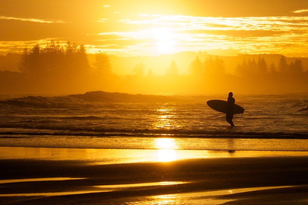 Lone Surfer Byron Bay Sunset