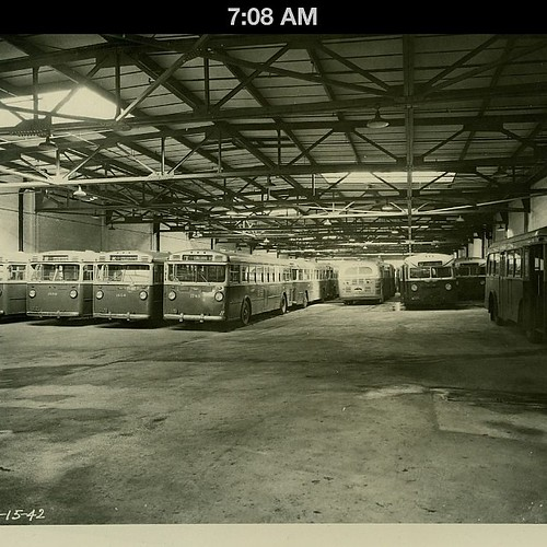 Trucking Company Garage : Frankford bus garage philadelphia transportation company d