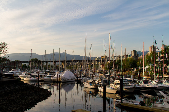 End of the day on Granville Island