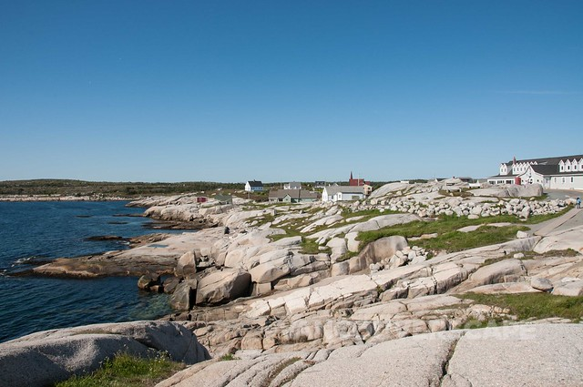 A view from Peggy's Cove lighthouse