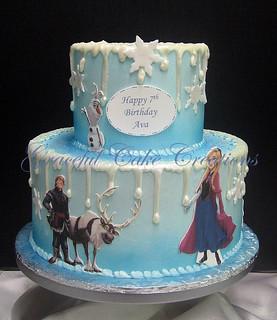 Frozen Birthday Cake With Name