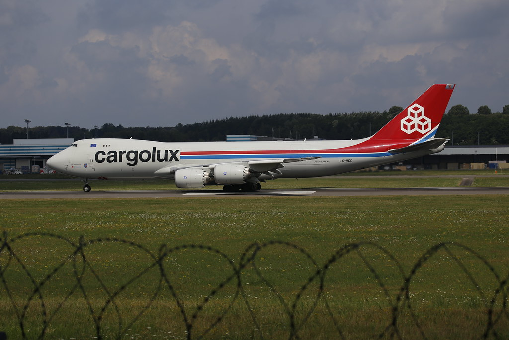 Cargolux Boeing 747-8F Ready for Take off in Luxembourrg