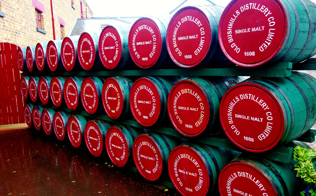 Whiskey Casks at Bushmills Distillery, Ireland