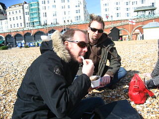 Richard eats jellied eel | by adactio