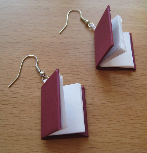 book earrings these are earrings i made for a wikihow