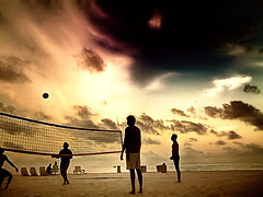 Sunset Beach Volleyball | by Badruddeen