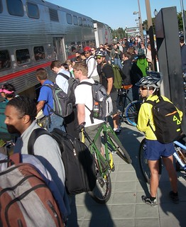 Mountain View Caltrain evening commute | by Richard Masoner / Cyclelicious